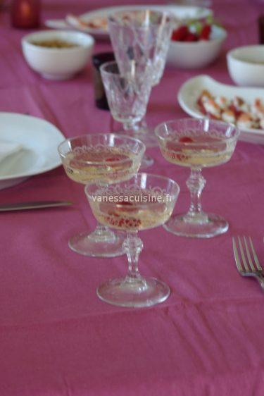 Cocktail au Crémant et litchee