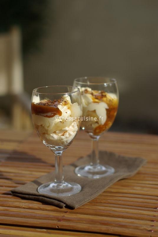 recette de trifle à la poire et confiture de lait
