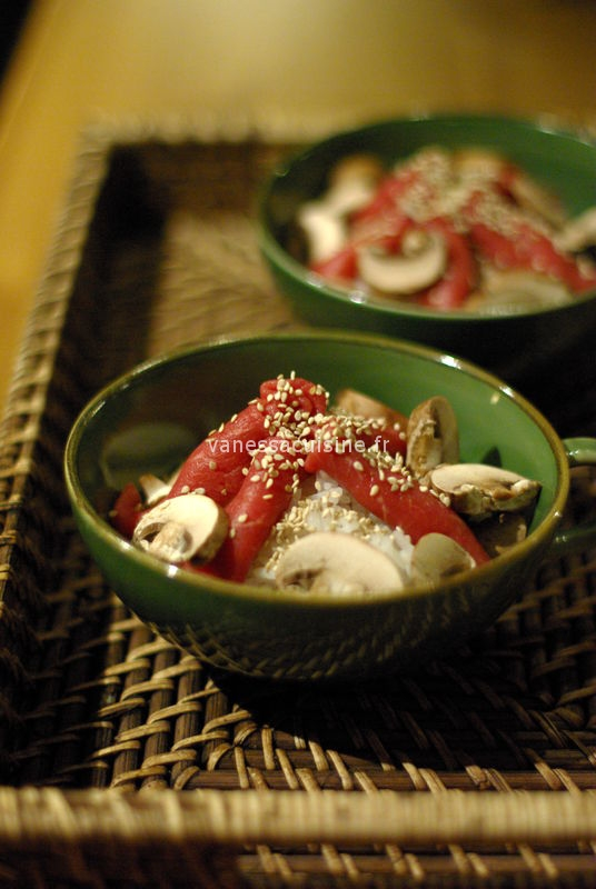 soupe de riz au boeuf