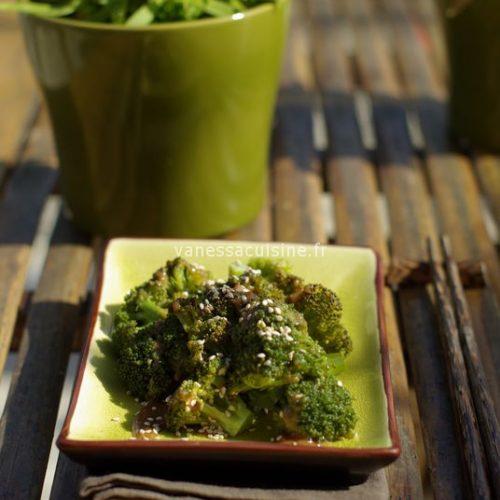 recette de brocolis tahine miso