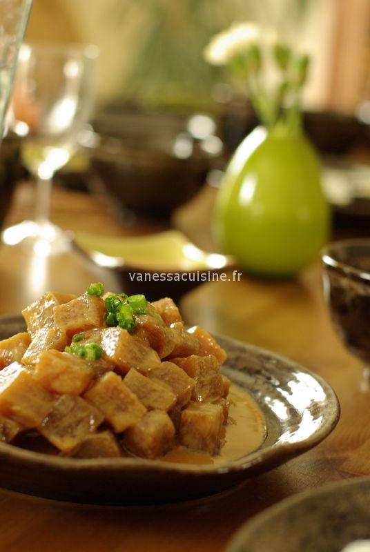recette de sashimi de thon au miso