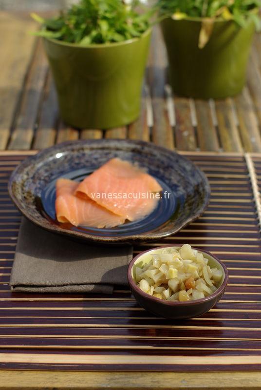 Salade de fenouil, céleri et pommes et chutney de fenouil