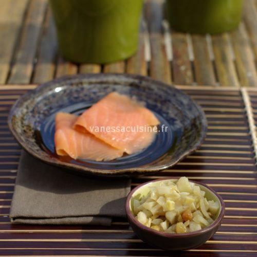 Chutney de fenouil et salade fraîche