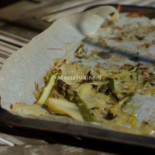 Paillasson de pomme de terre aux asperges