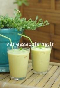 Pinacolada à l'ananas frais, crème de coco