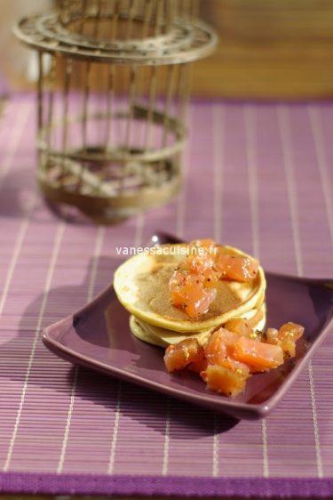 recette de blinis aux choux fleurs