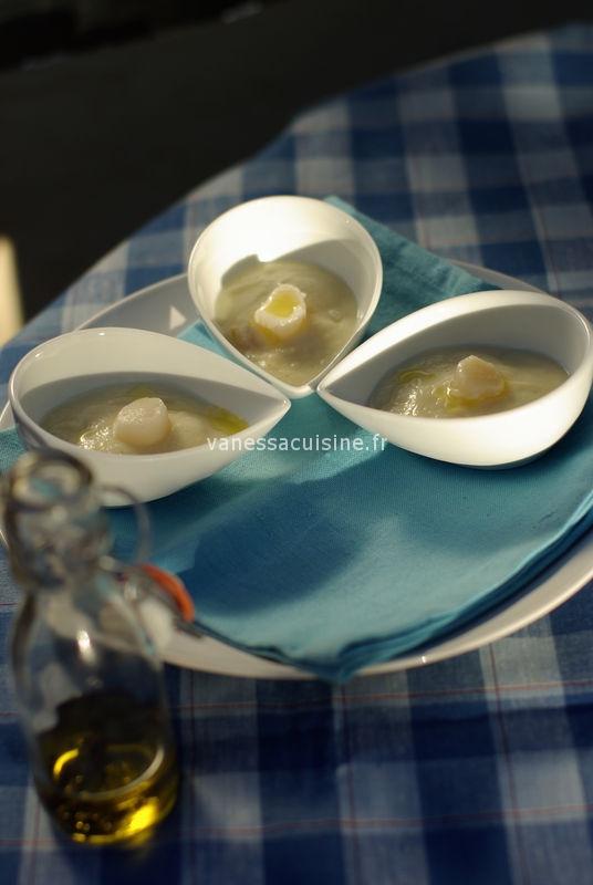 Pétoncles et crème de chou fleur vanillée, by O. Roellinger