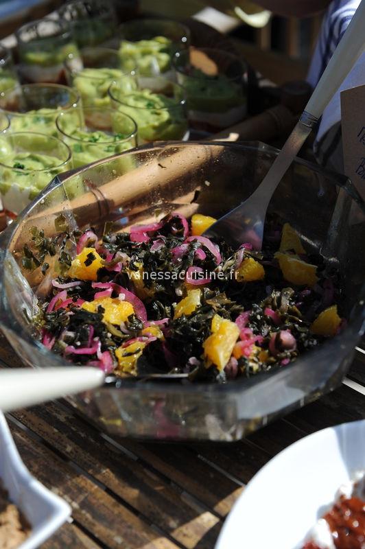 recette de salade de wakame, oignon rouge et orange