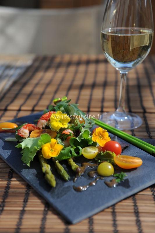 Salade d'écrevisses, vinaigrette à la truffe
