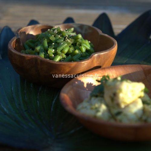 Salade de haricots verts au sésame et au tamari