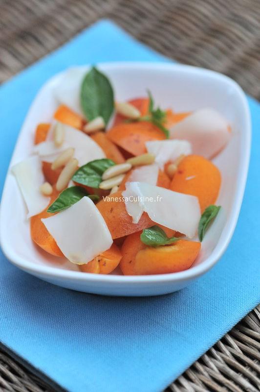 Abricots, Gouda de chèvre et pignons