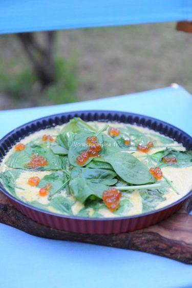 recette de quiche au saumon et épinards