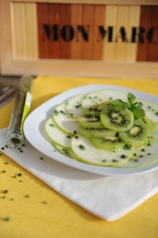 Dessert tout vert ! Granny, kiwi et menthe