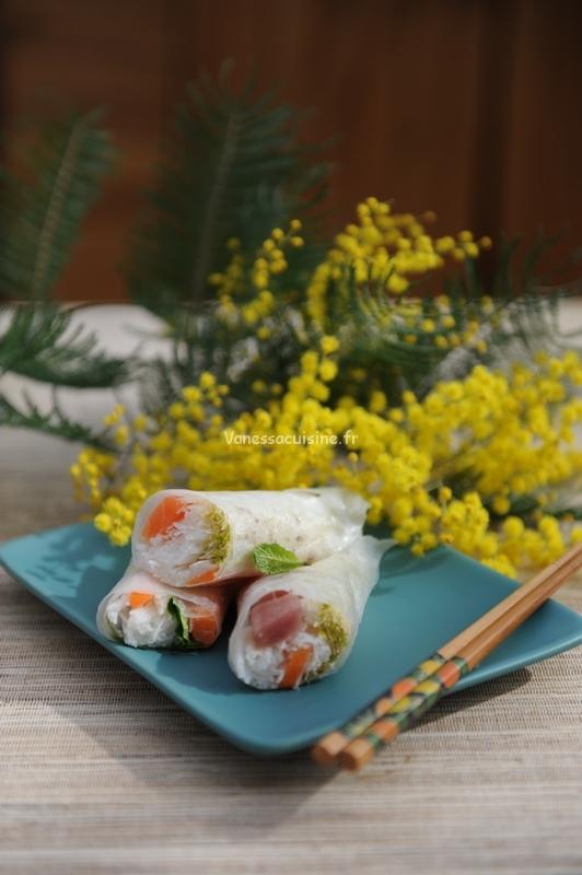 Rouleaux de printemps au poisson cru