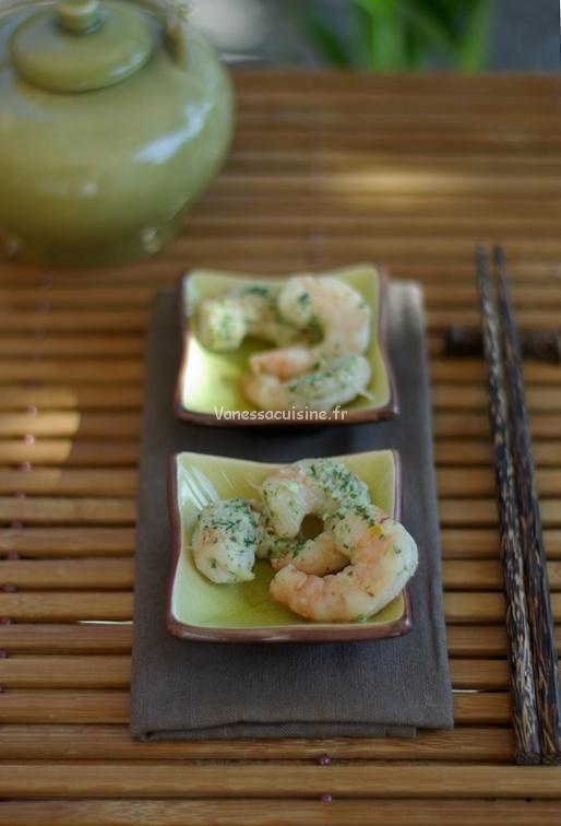 recette de crevettes marinées au galanga