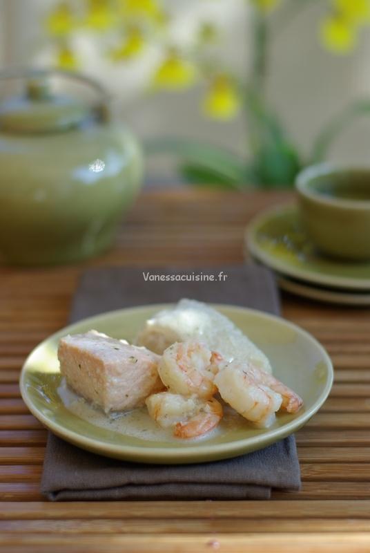 recette de curry de poisson et crustacés au lait de coco