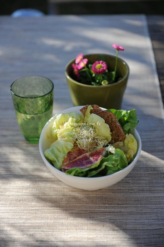 recette de salade caesar aux rougets