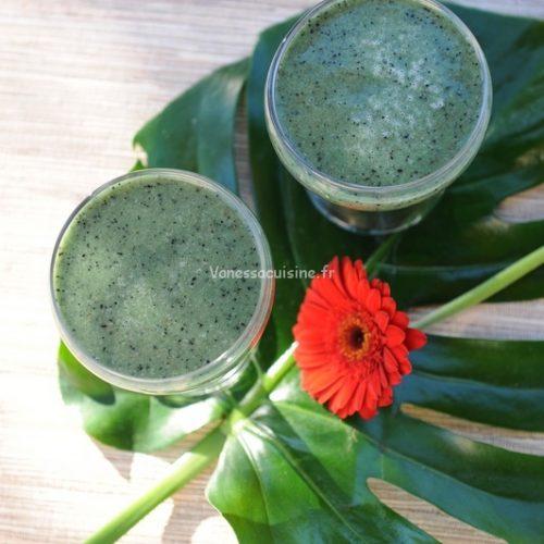 recette de no-milk shake spiruline