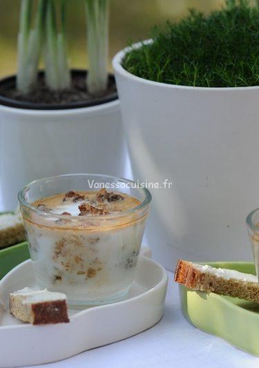 recette d'oeufs cocotte aux morilles et à la crème