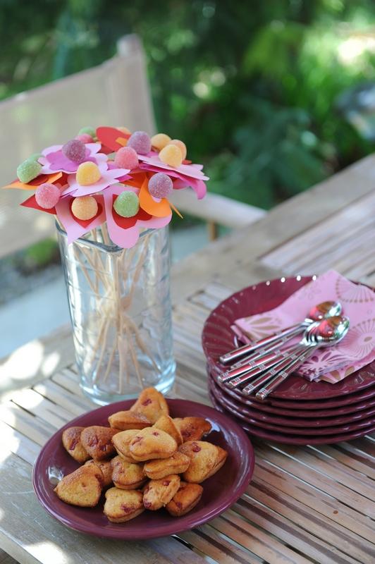 Les muffins fleurs et leurs copains les gâteaux coeur !