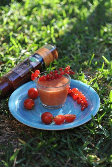 recette de gaspacho de tomate au vinaigre de fraise