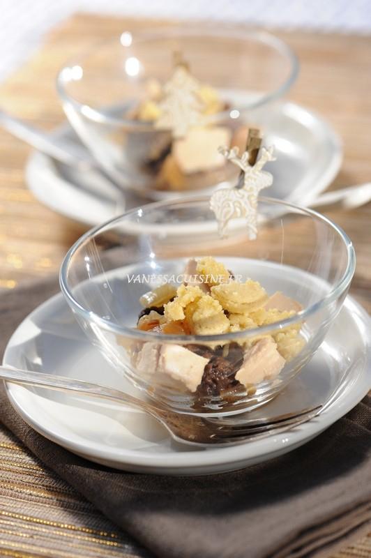 recette de crumble morilles foie gras