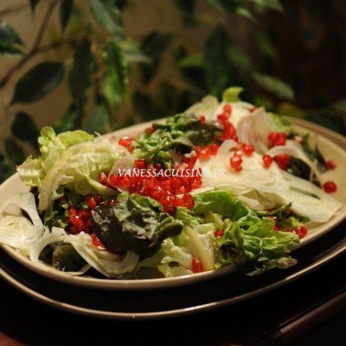 recette de salade d'hiver fenouil et grenade