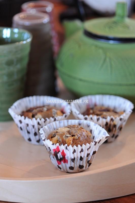 Petits cakes au sarrasin et aux pépites de chocolat (sans gluten, sans caséine de lait)