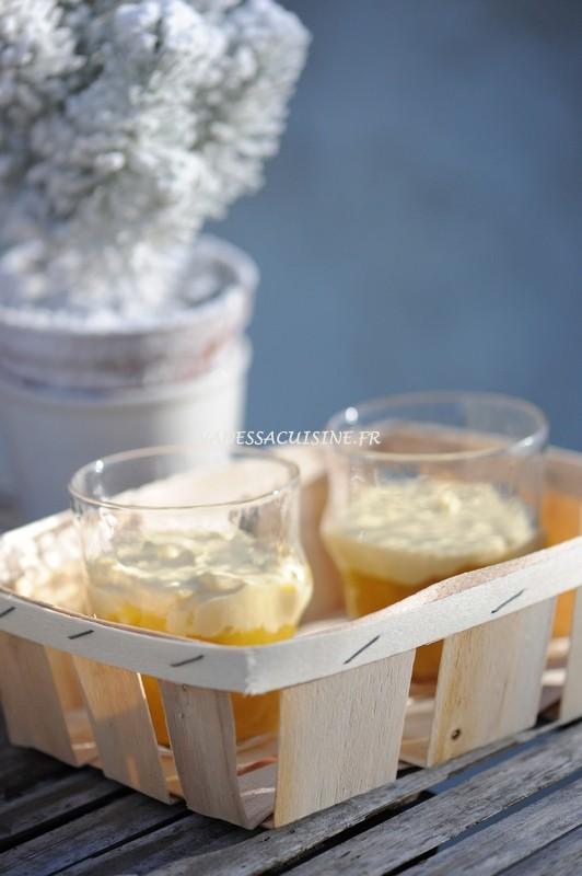 verrines pommes ananas mascarpone
