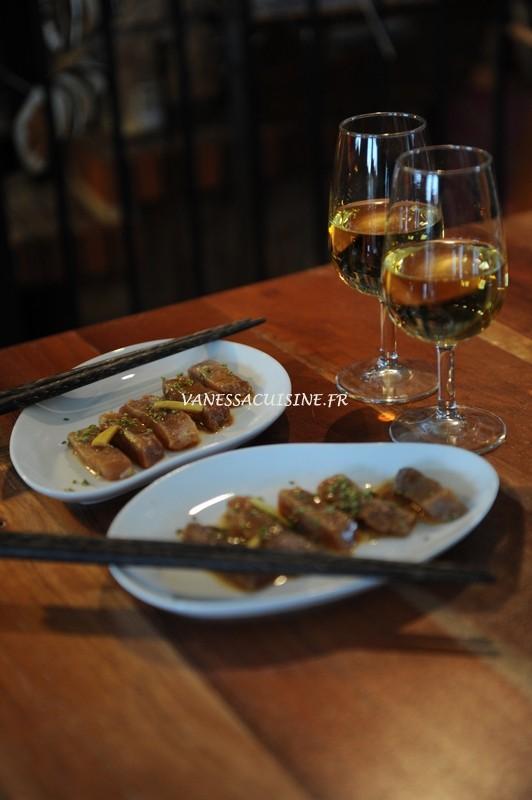 recette de sashimi de thon mariné