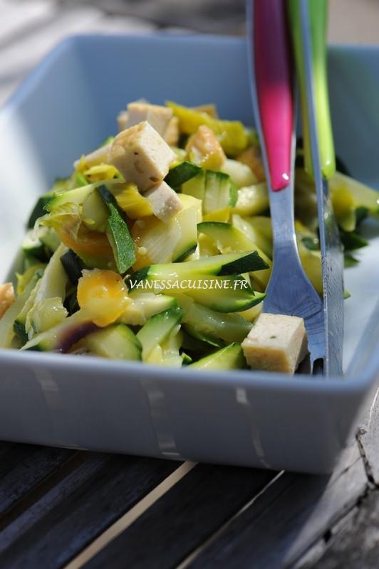 wok courgette tofu