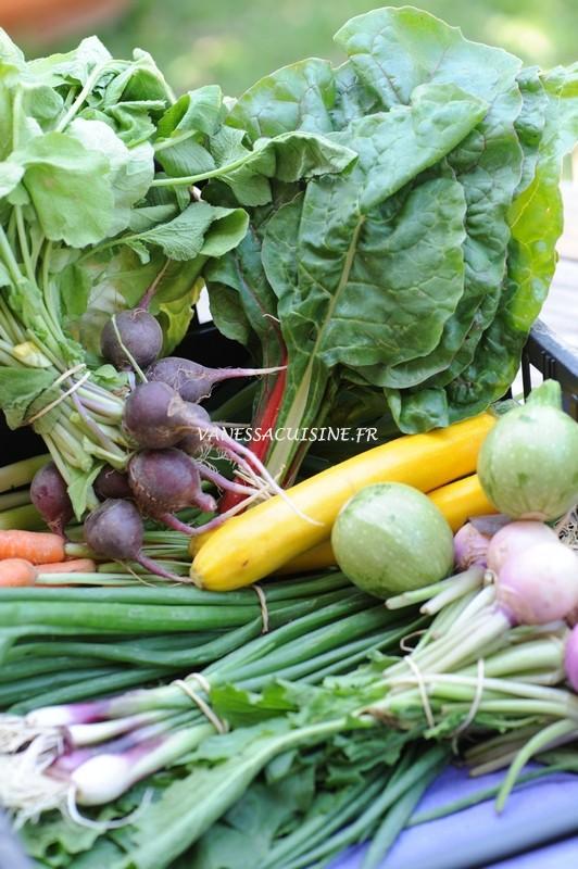 photo d'un panier de légumes frais