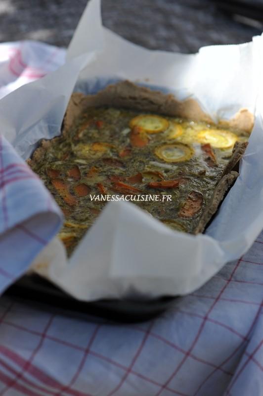 photo d'une tarte courgettes et carottes