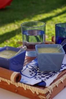 recette de soupe froide de courgettes au gingembre
