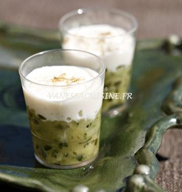 recettes de verrines aux courgettes et chèvre frais