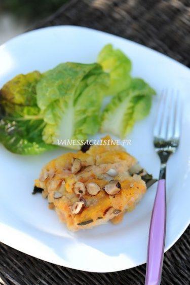 recette de parmentier de maquereau fumé aux légumes anciens, noisettes croquantes