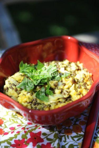 recette de curry de riz et lentilles
