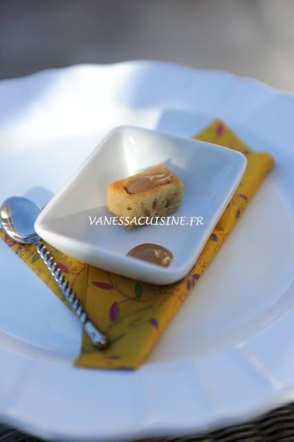 Mini moelleux et sa crème au sucre de palme complet (sans gluten, ni caséine de lait)