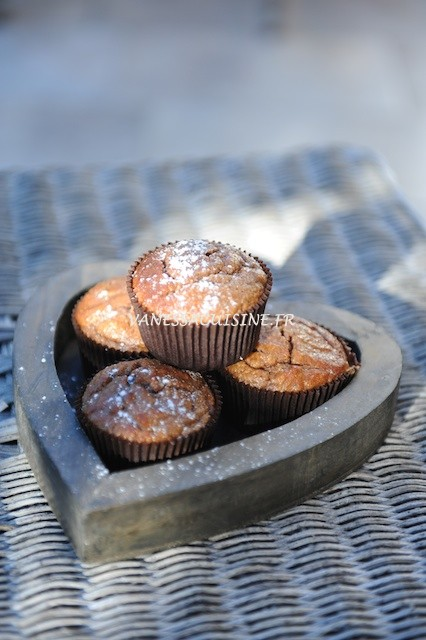 Petits cakes à la crème de marron et au miel (sans gluten, ni caséine de lait)