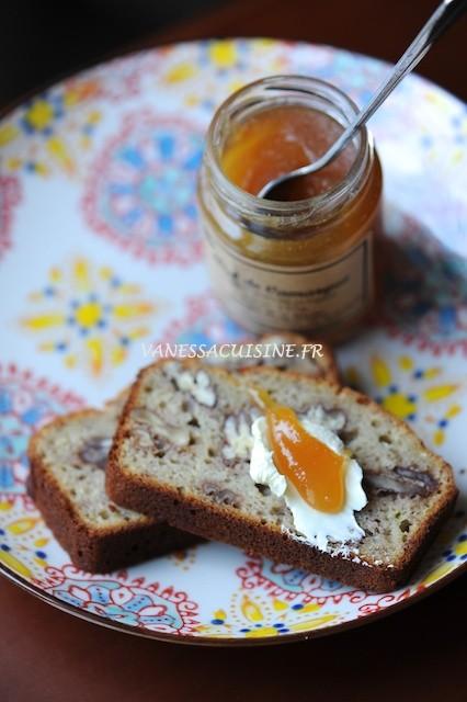 recette de pain à la banane et aux noix de pécan