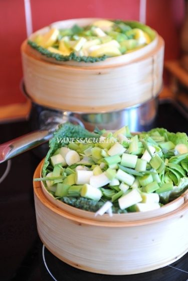 cuisson des légumes à la vapeur