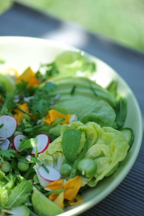 Salade fraîche de légumes de printemps