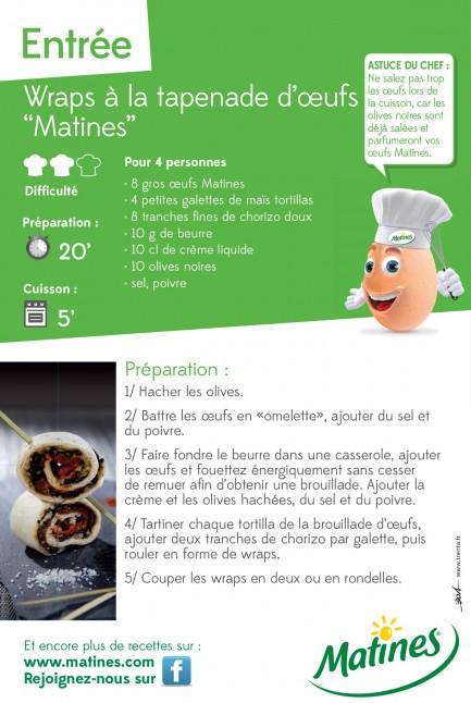 Les wraps à la tapenade d'oeufs, by Piermic Fatet