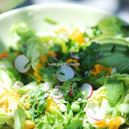 La salade fraîche de légumes de saison