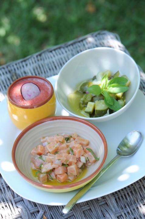 recette de tartare de saumon thaïe aux herbes