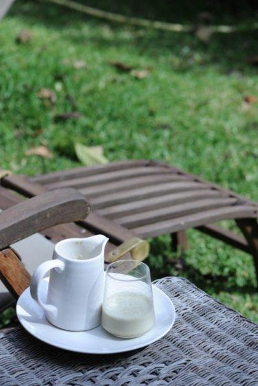 recette de lait d'amande au thé matcha