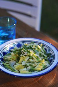 recette de salade de courgette aux amandes et menthe