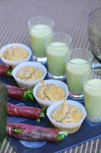 recettes de lait d'amande au basilic muffins aux graines et aux fleurs et noms de bresaola aux herbes