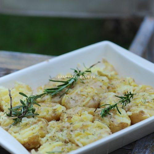 recette de pommes de terre tapées au romarin et sarriette