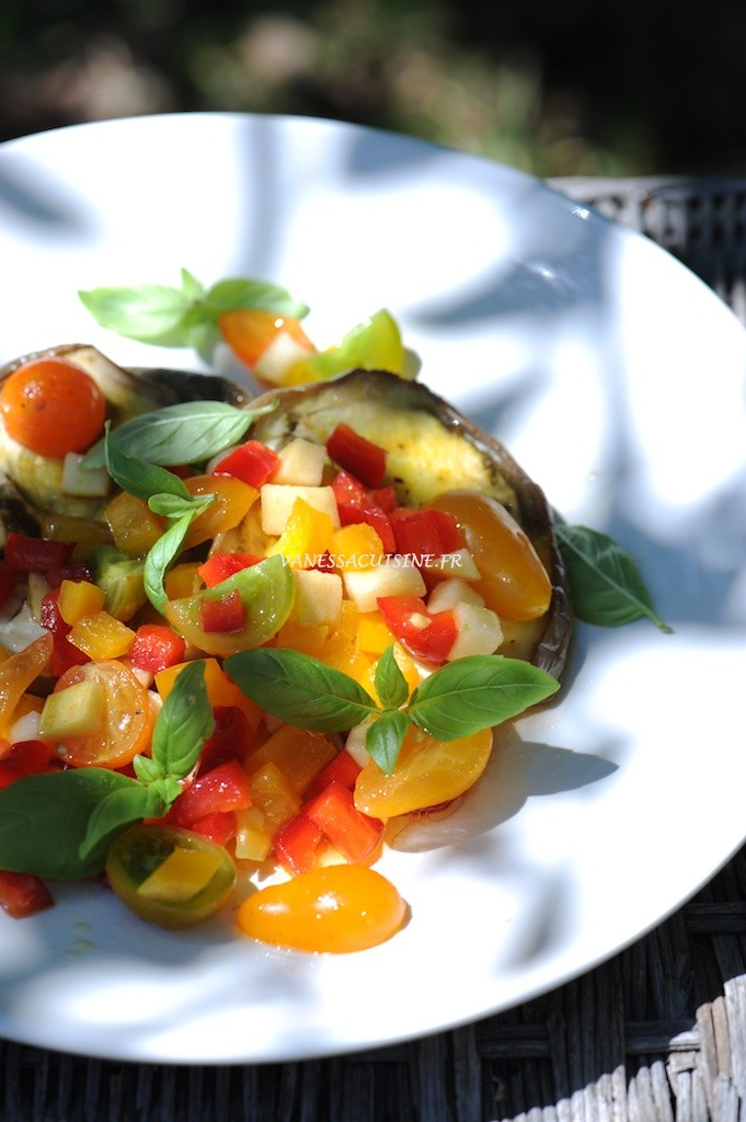 Steack d'aubergine, sauce vierge (veggie)